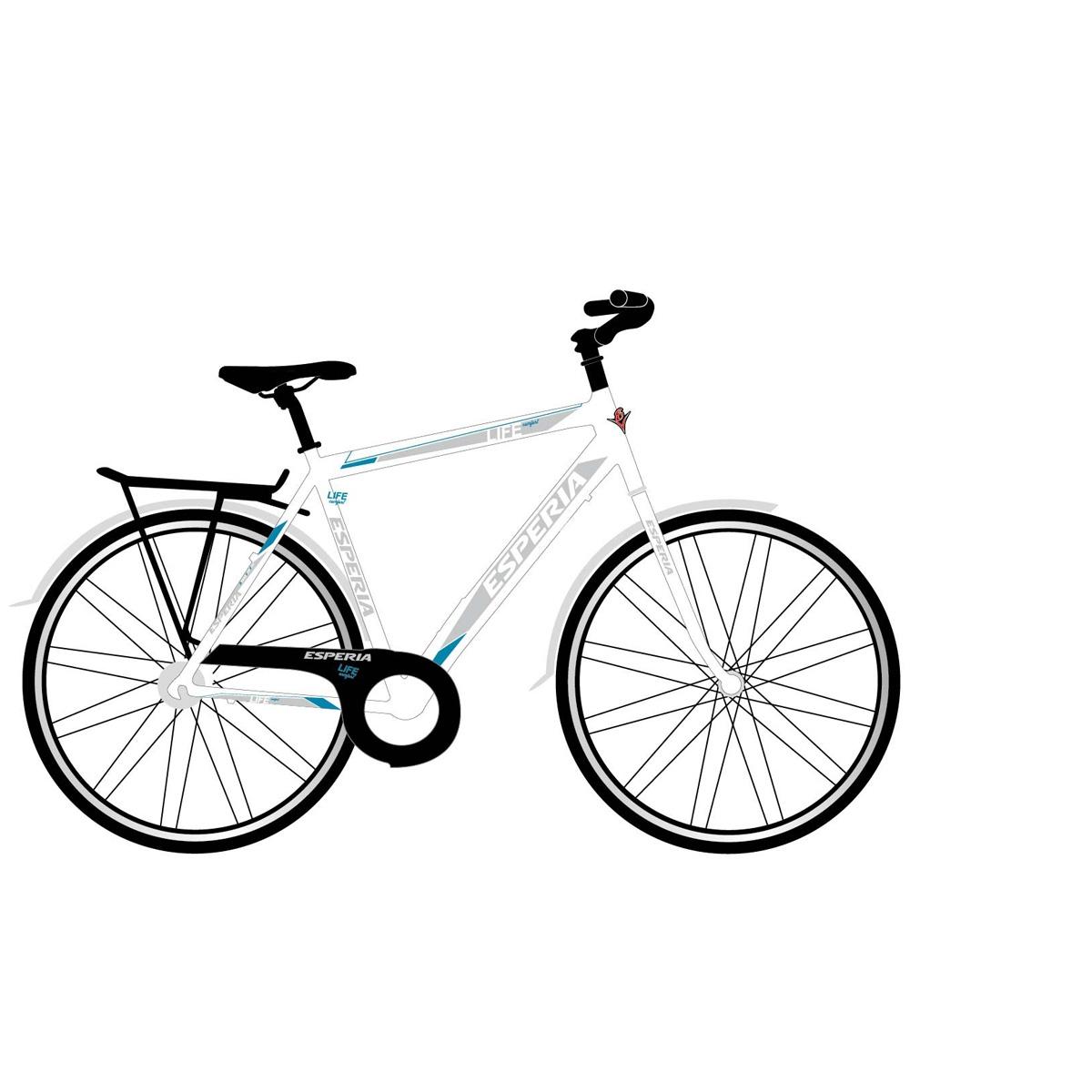 Vélo trekking Esperia Blanc Homme 6250u Life Confort - 54 cm