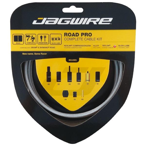 Kit complet câbles et gaînes Jagwire Road Pro - Argent RCK012
