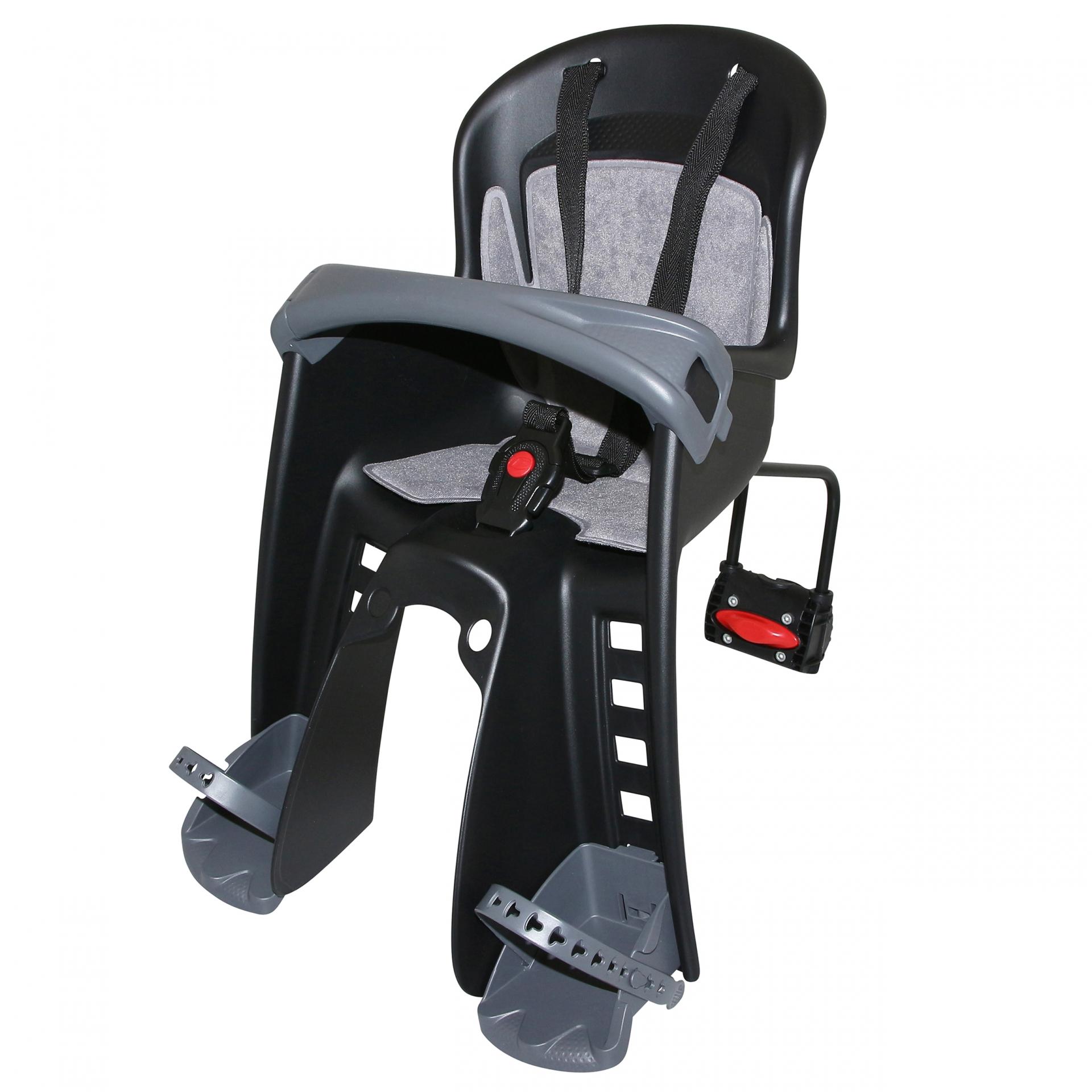 Porte-bébé avant sur direction Polisport Bilby Junior FF sur cadre Noir/Gris
