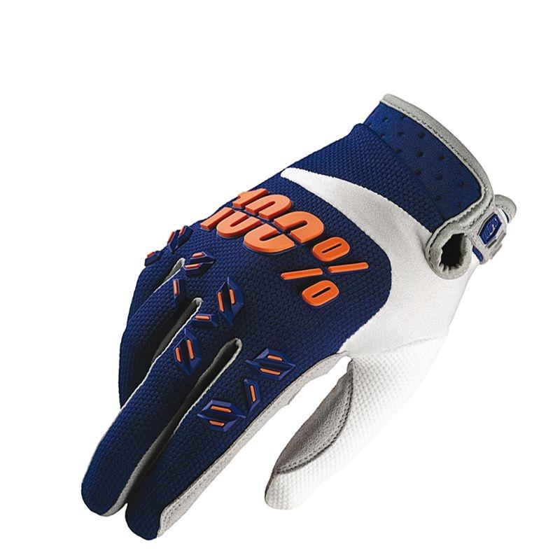 Gants enfant/junior 100% Airmatic navy/orange (Bleu/Orange) - S