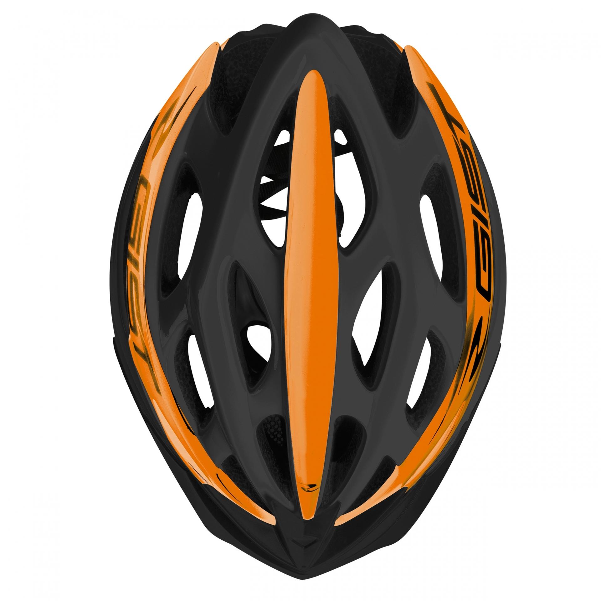 Casque Vélo GIST Faster Noir/Orange - 52-58 cm