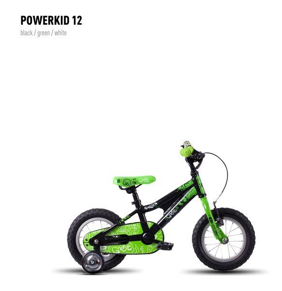 Vélo enfant Ghost Powerkid 12 Noir/Vert/Blanc