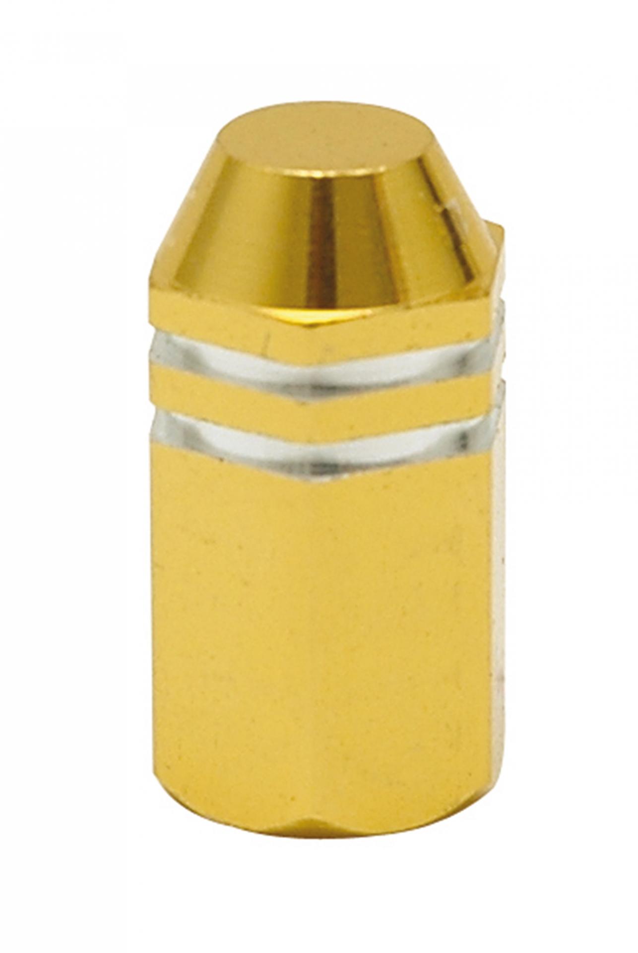 Bouchon de valve TrickTopz Hexagonal Long Doré (x2)