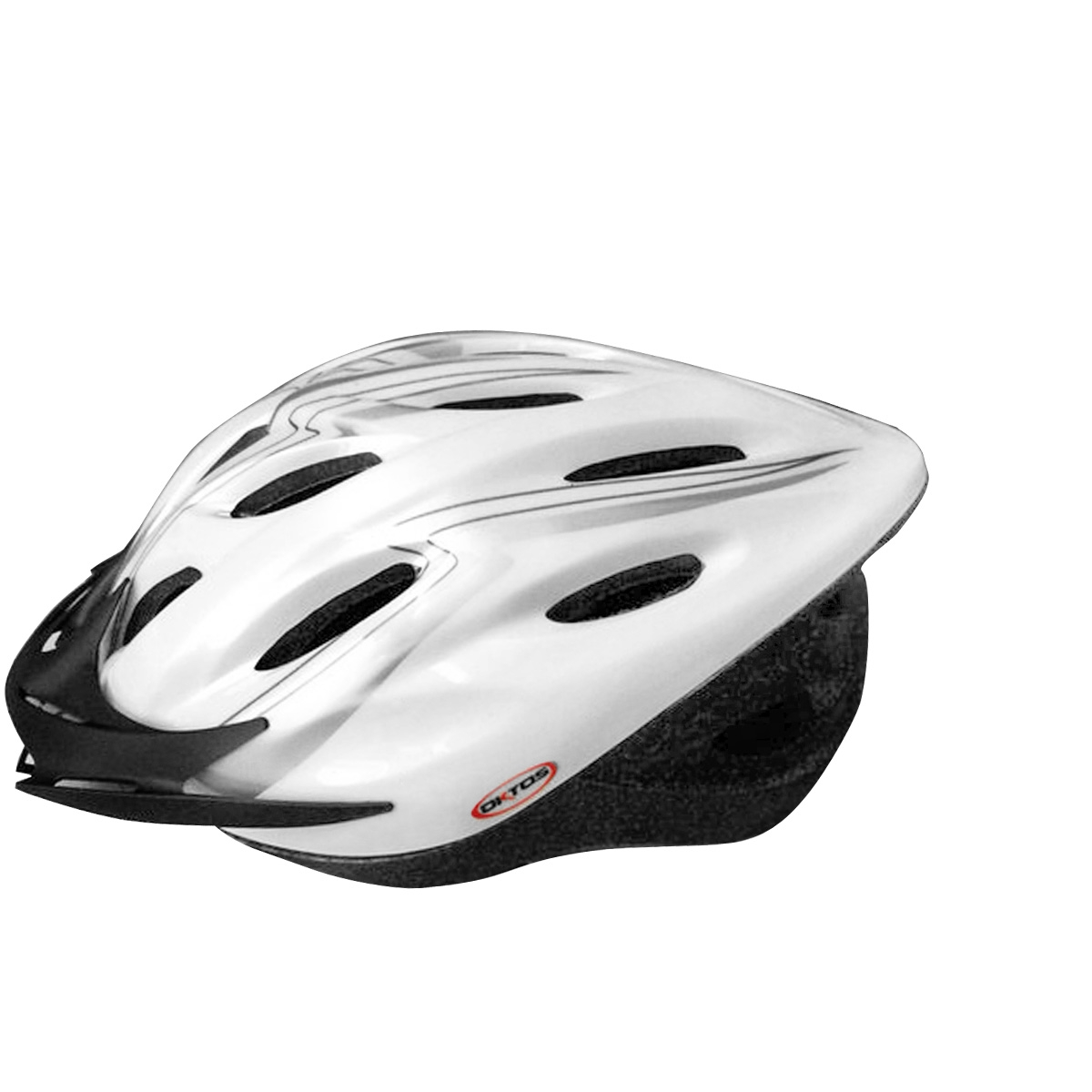 Casque vélo Oktos VTT/VTC Blanc/Gris - 54/59