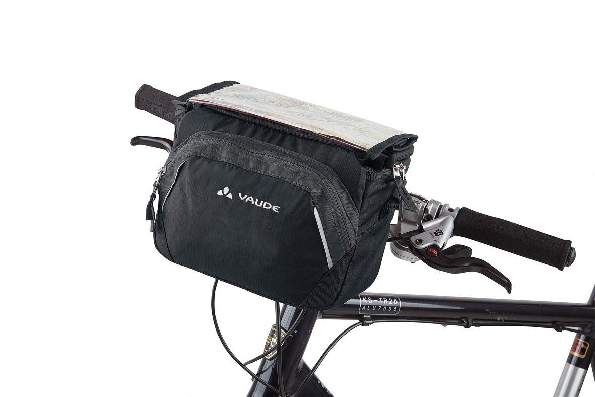 Sacoche de guidon Vaude Road I 5 L + support KLICKfix Noir/Anthracite