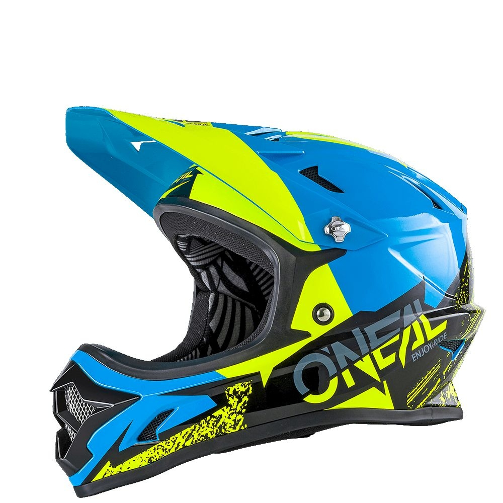 Casque O'Neal Backflip RL2 Burnout Noir/Bleu/Jaune Hi-viz - XL