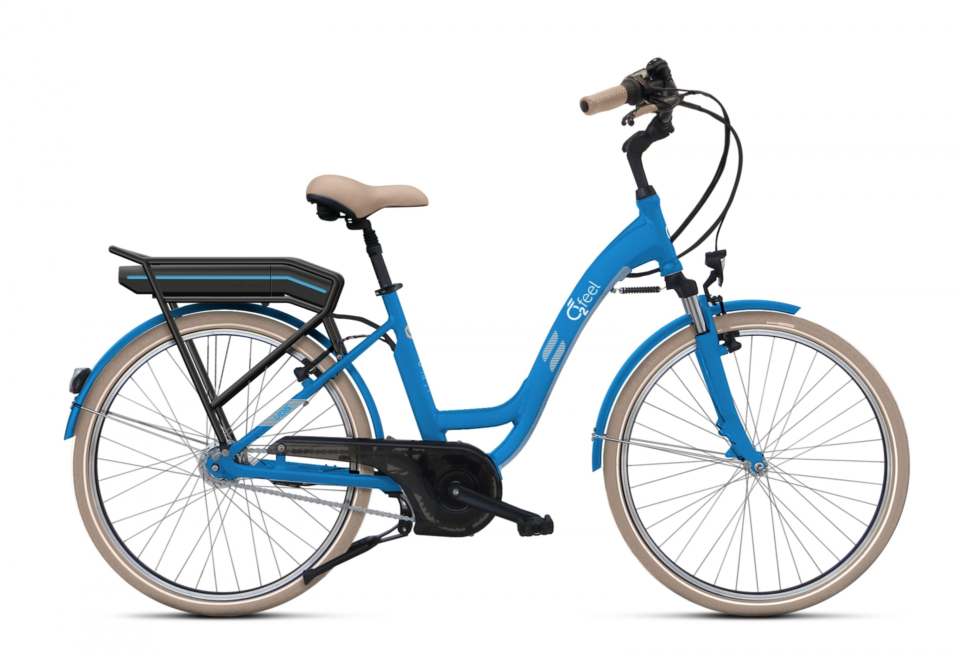 Vélo électrique O2Feel Vog N7C 26 374 Wh Skyblue Limited