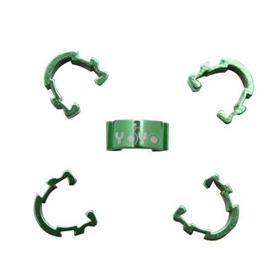 Clips de gaine durite YOYO alu (boîte de 5) Vert