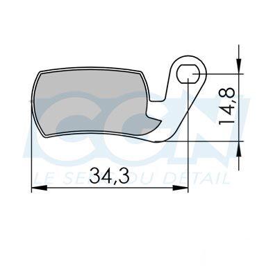 Plaquettes de frein 29 Clarks comp. Magura Marta Semi métallique