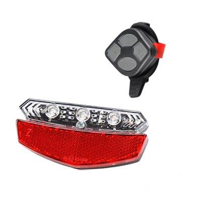Éclairage AR ATOO LED + clignotant télécommandé À piles Fix. Porte-bagages