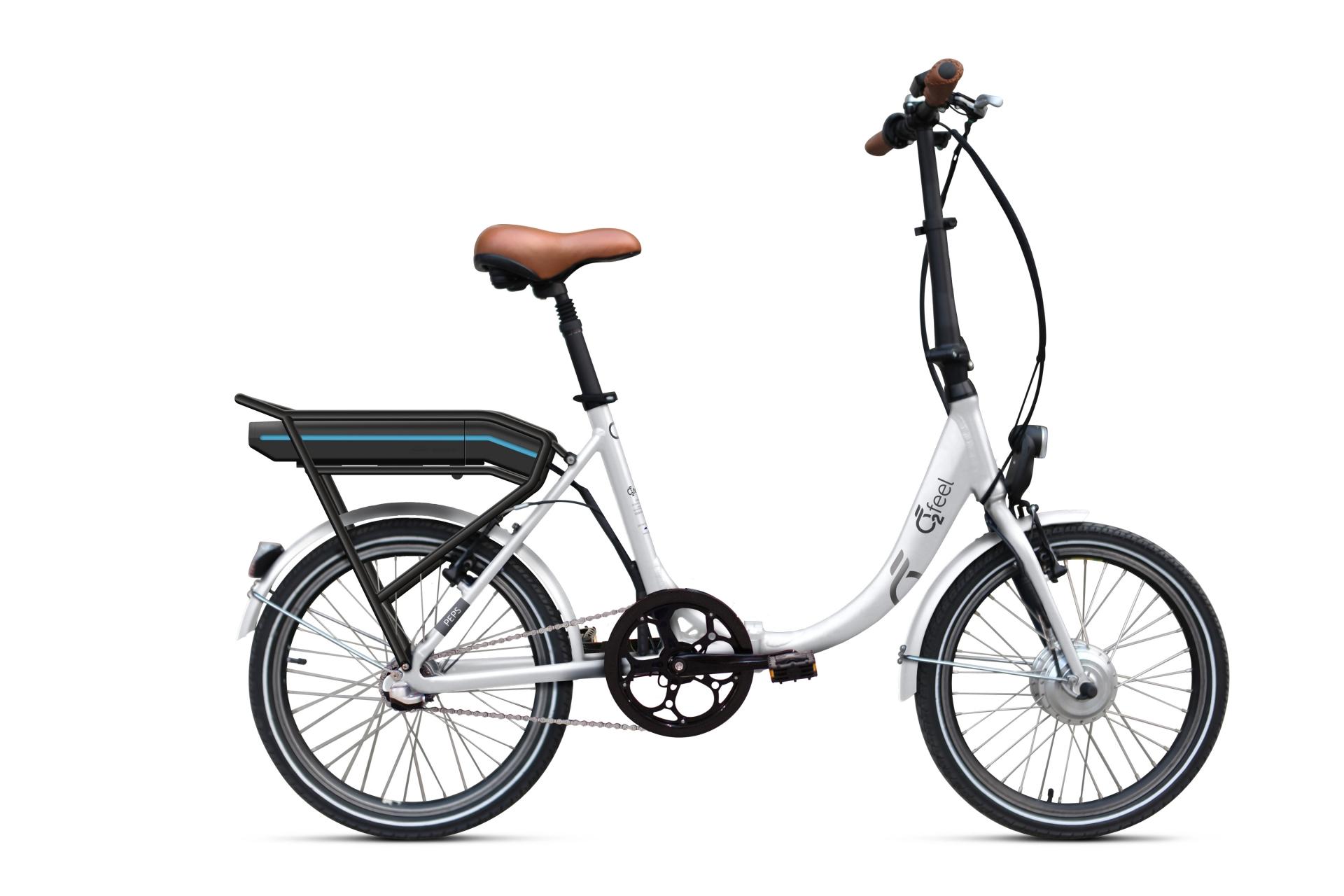 Vélo électrique pliant O2Feel Peps N3 374 Wh Blanc