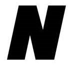 Sticker lettre N Noir
