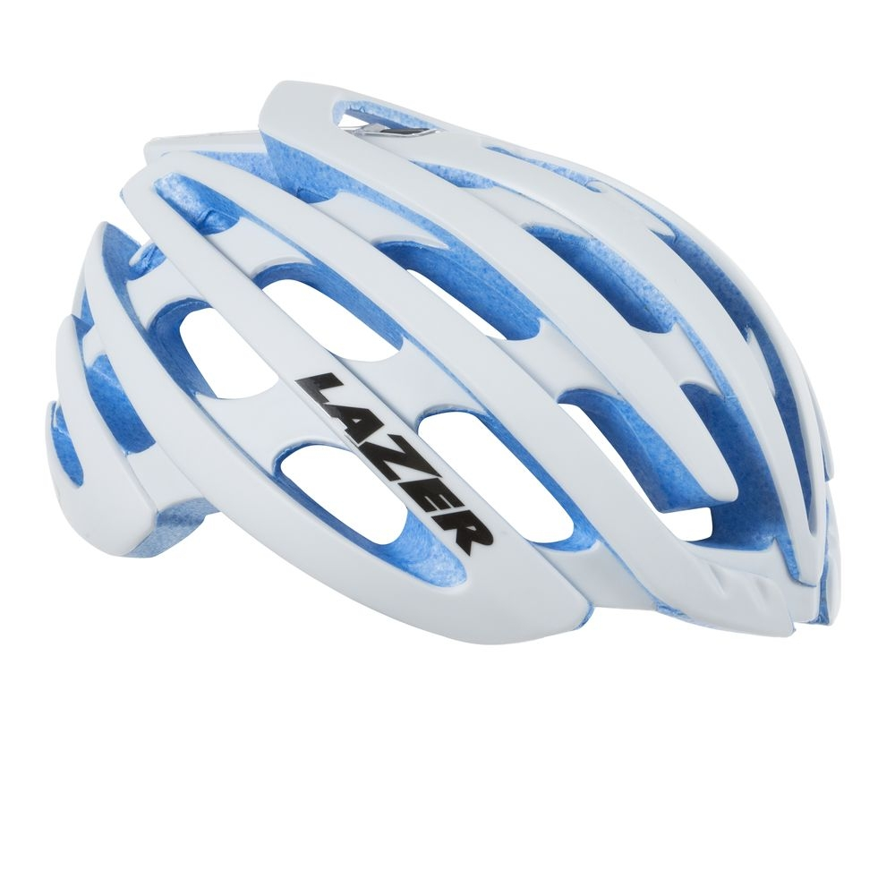 Casque Lazer Z1 CE / White Blue EPS Limited Edition + aeroshell - M