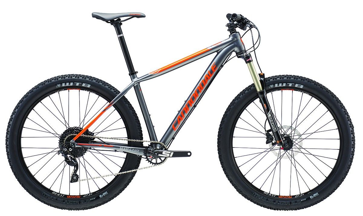 VTT Cannondale Beast Of The East 3 27.5+ 2016 (Gris/Orange) - M