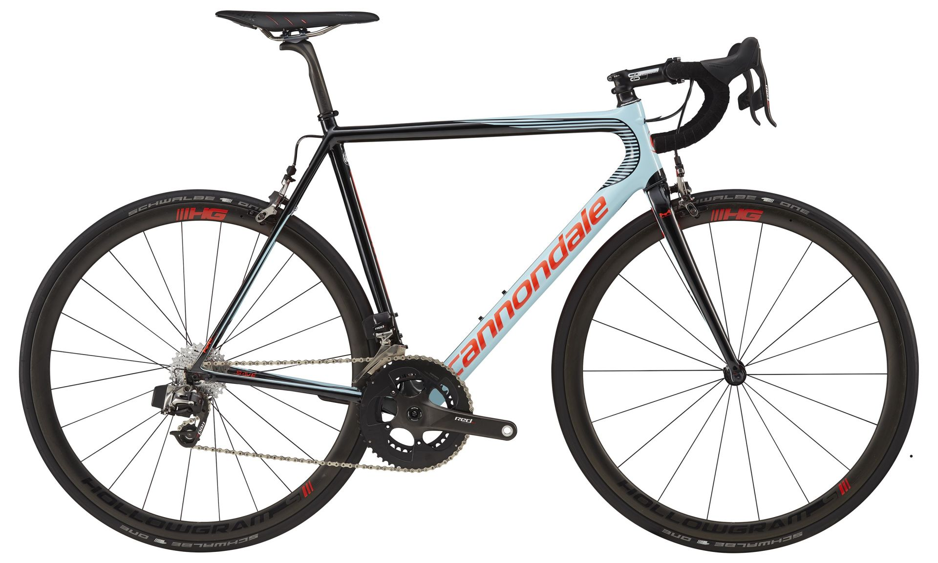 Vélo route Cannondale SuperSix EVO Hi-Mod RED eTap Bleu/Noir 2017 - 52