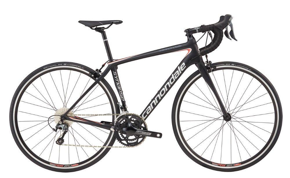 Vélo route Cannondale Synapse Carbon Tiagra WMN 2017 Noir/Argent/Corail - 48 cm