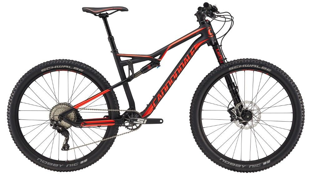 VTT tout suspendu Cannondale Habit Carbon/Alloy 3 2017 Noir/Rouge - M