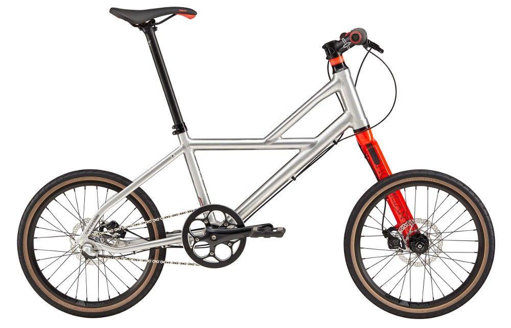 Vélo urbain Cannondale Hooligan 1 Alu poli/Rouge