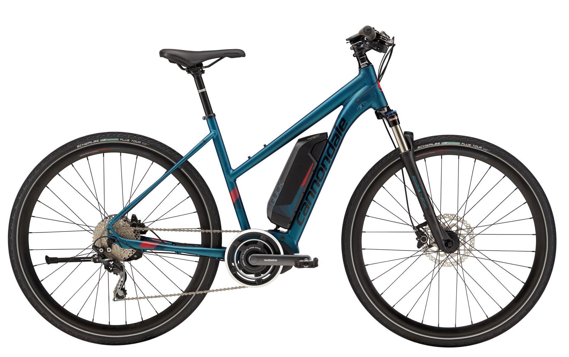 VTC électrique Cannondale Quick Neo Mixte Bleu - XS / 38 cm