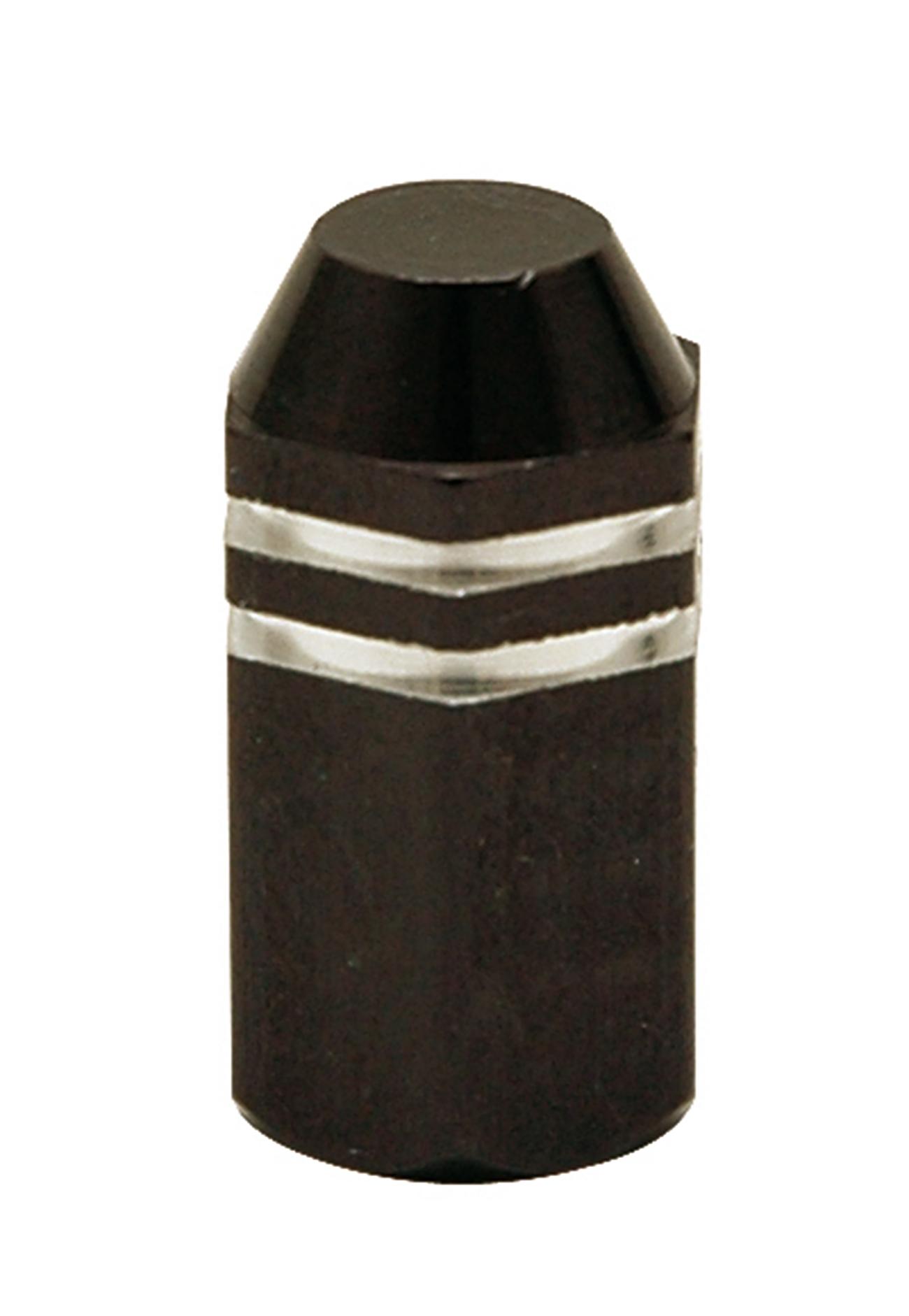 Bouchon de valve TrickTopz Hexagonal Long Noir (x2)