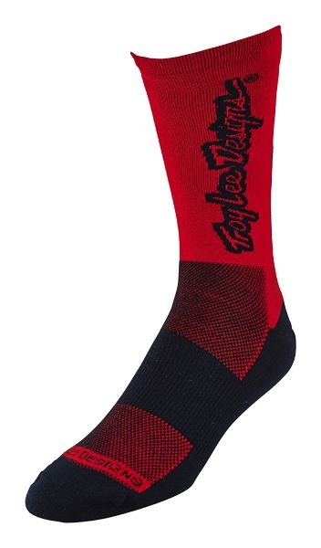 Chaussettes Troy Lee Designs Ace Perf Crew Classic Rouge - 41-44