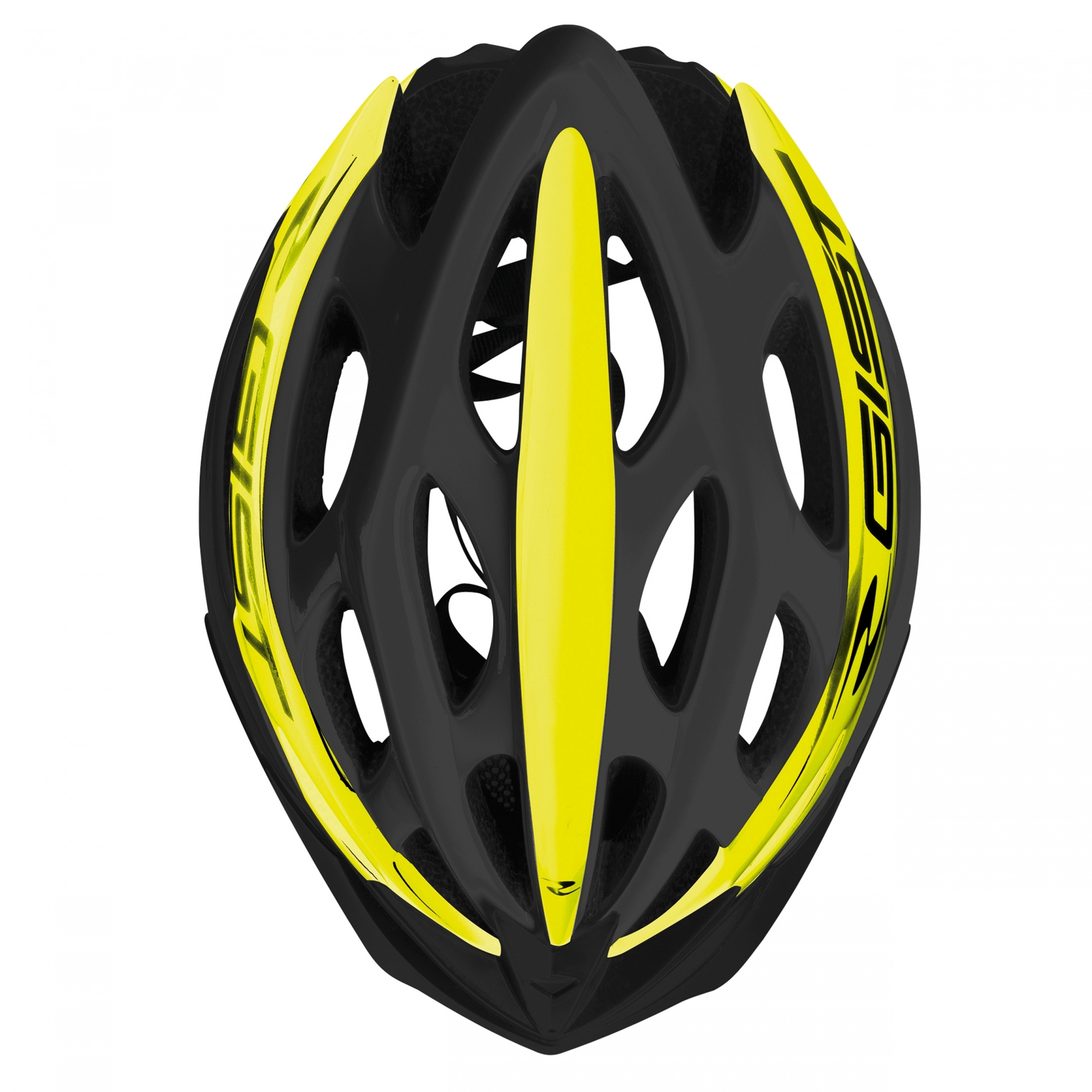 Casque Vélo GIST Faster Noir/Jaune Fluo - 52-58 cm