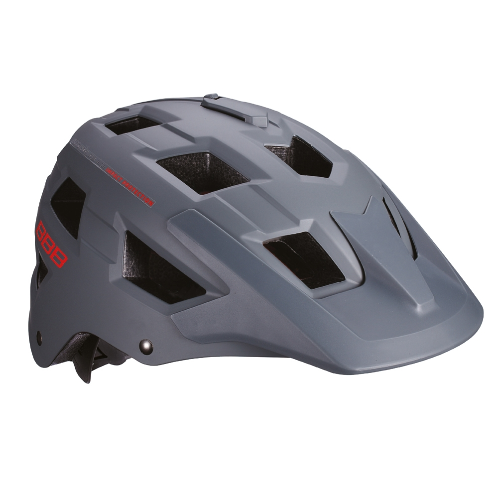 Casque BBB Nanga Gris/Rouge BHE-54 - L