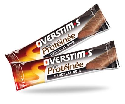 Barre Overstims Hyper-protéinée (35 g) - Chocolat noir