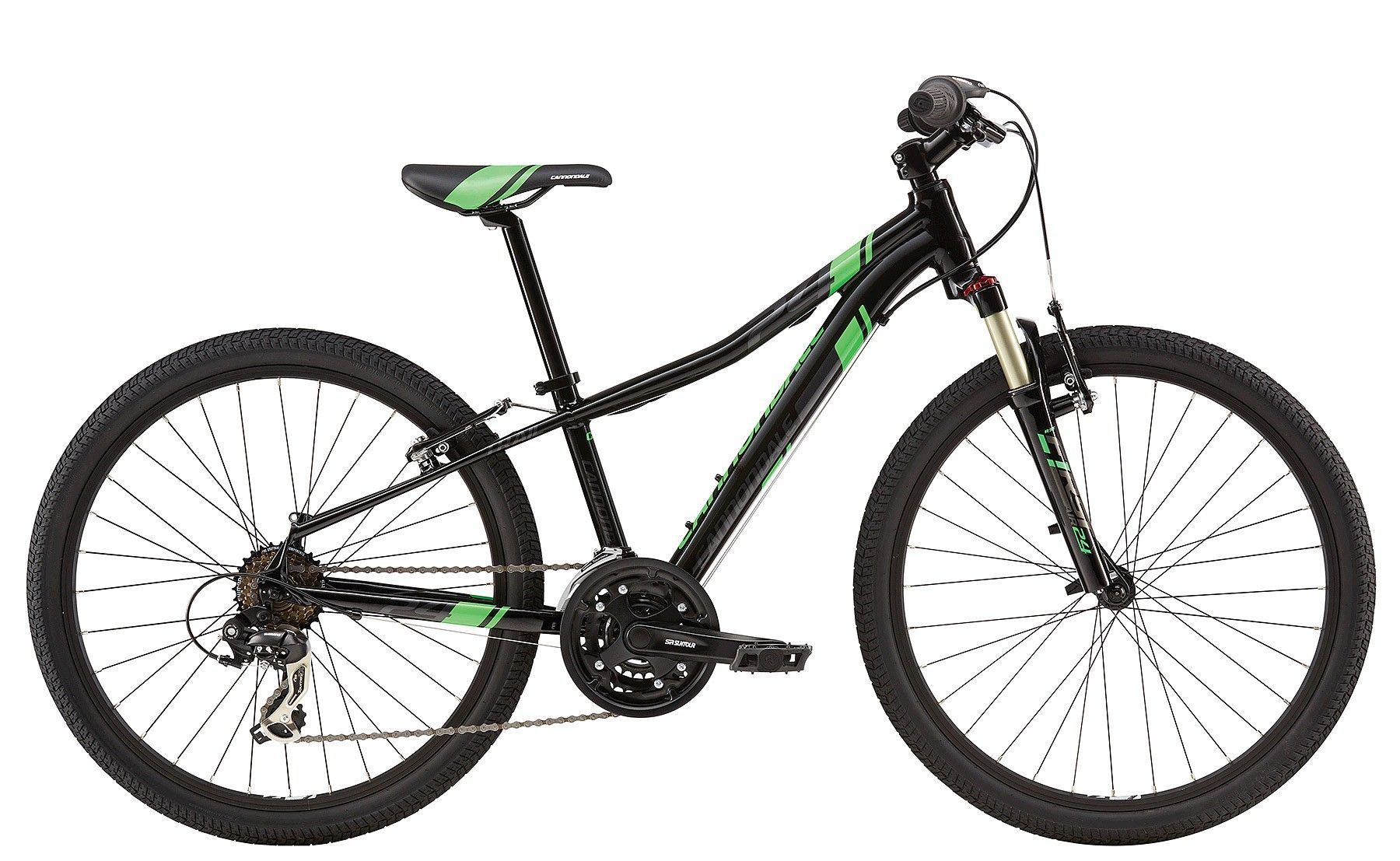 VTT junior Cannondale Race 24 (Noir / Vert) Large