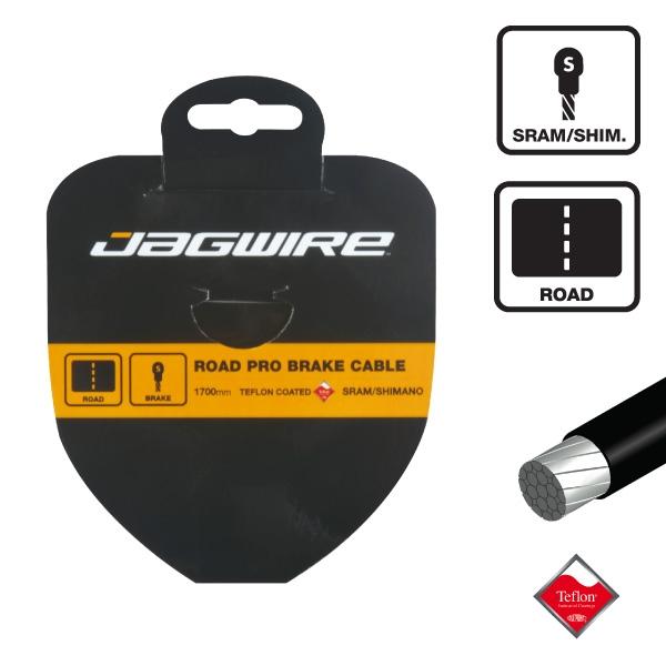 Câble de frein route Jagwire inox au Teflon 1.5x1700 mm - SRAM/Shimano