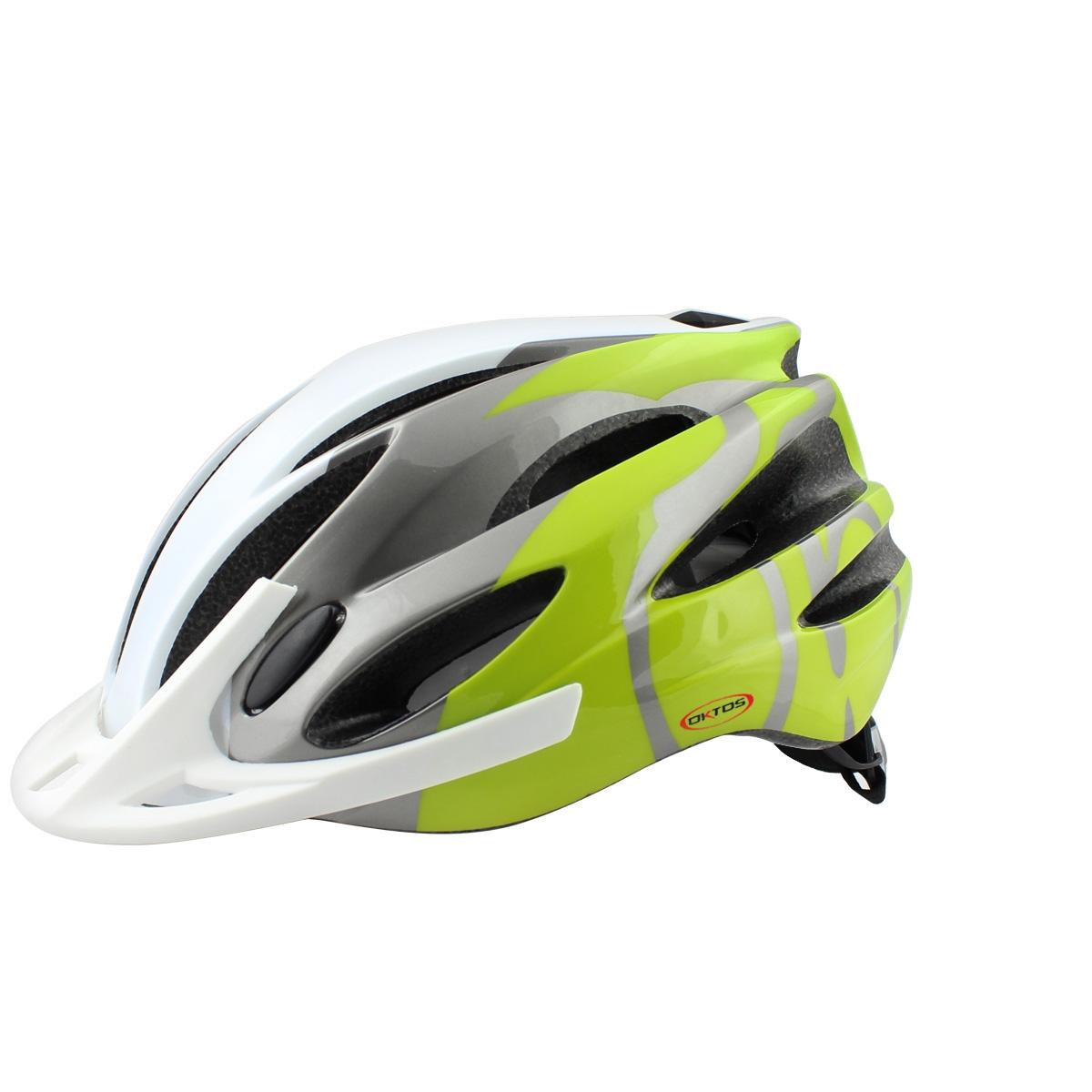 Casque vélo Oktos Vert/Blanc - 54/58 cm