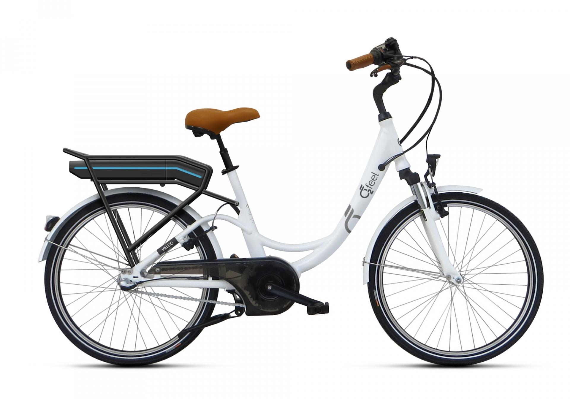 Vélo électrique O2Feel Valdo N3C 24 374 Wh Blanc