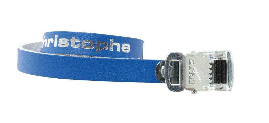 Courroies cuir Zéfal Christophe 516 Bleu (la paire)
