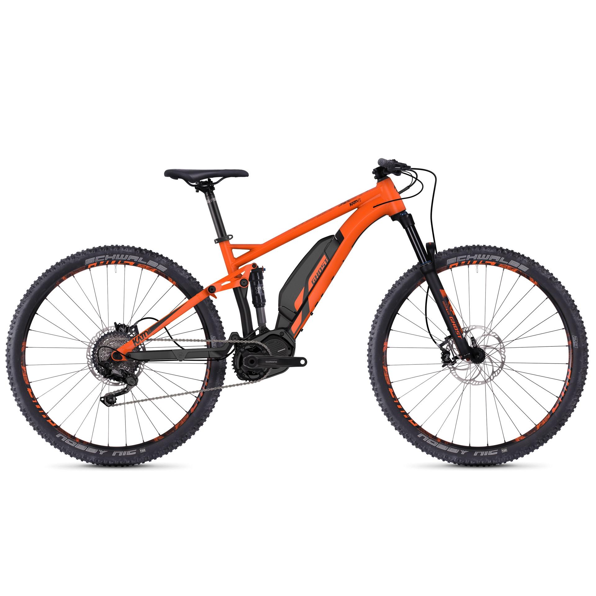 VTT électrique Ghost Kato FS S3.9 AL Orange/Noir - L