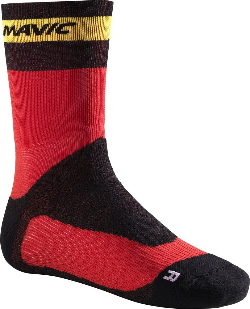 Chaussettes Mavic Ksyrium Pro Thermo+ Sock Rouge Fiery/Noir - 3538