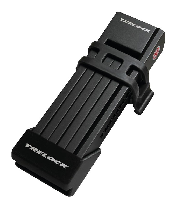 Antivol pliable Trelock TWO.GO FS 200/75 avec support Noir