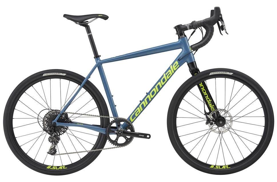 Vélo gravel cannondale Apex 1 2017 Bleu/Jaune fluo - L / 57 cm