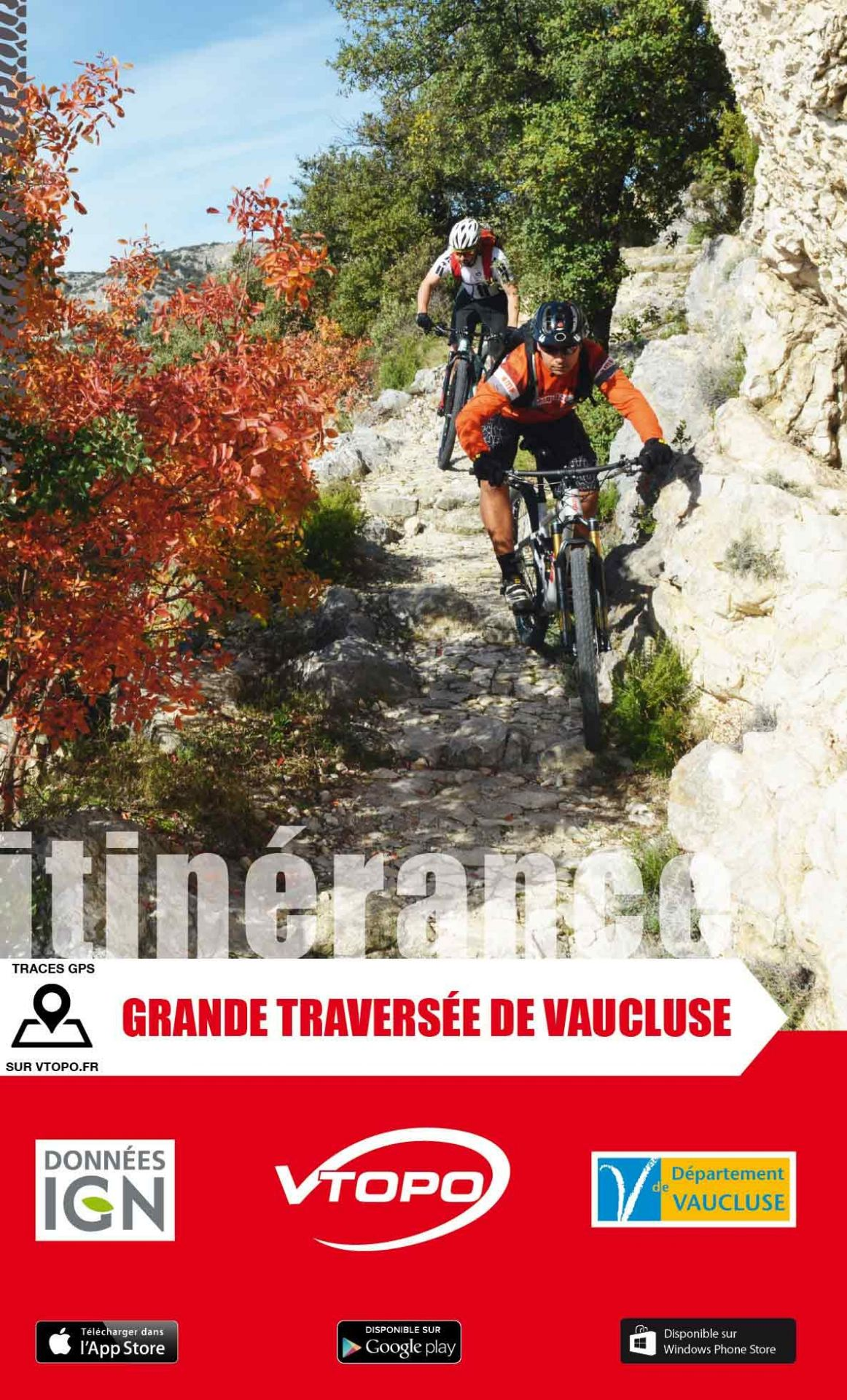 VTOPO guide VTT Grande Traversée de Vaucluse