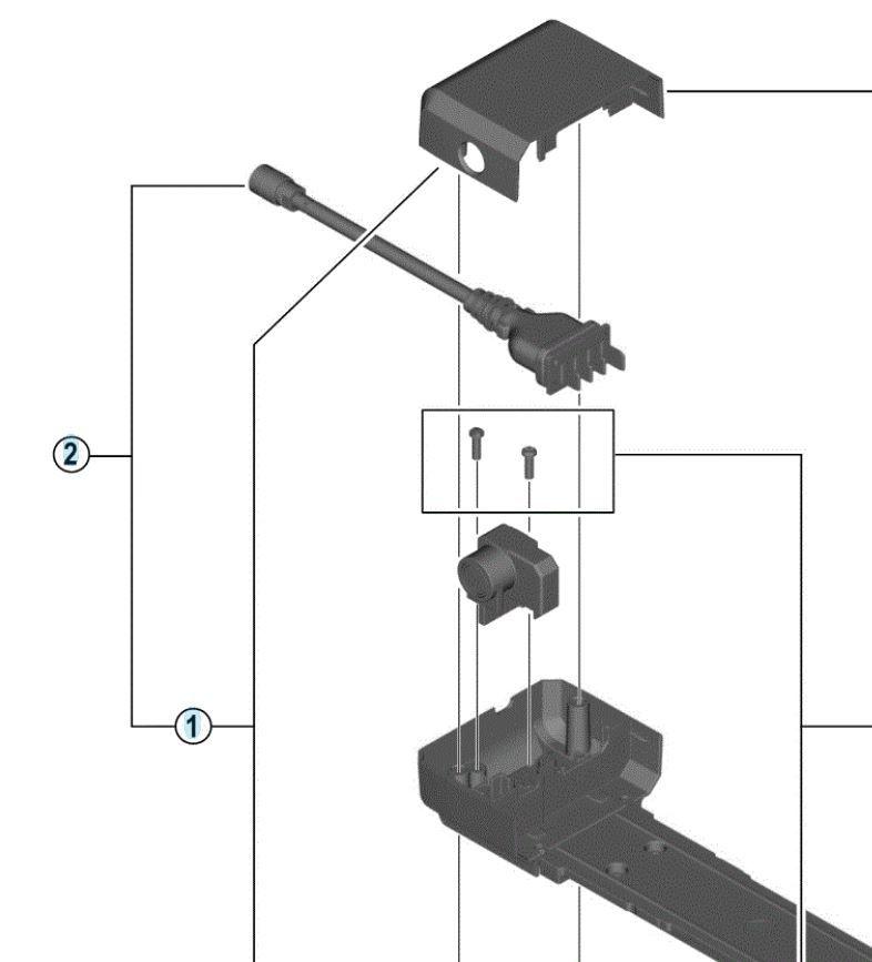Connectique batterie Shimano BM-E6000 / A SM-BME60 porte-bagages