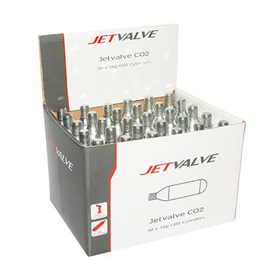Cartouche Co2 Weldtite JetValve 16 g (Boîte de 30)