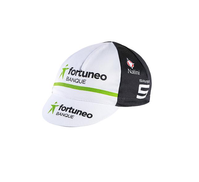 Casquette vélo équipe Fortuneo Banque Blanc/Noir