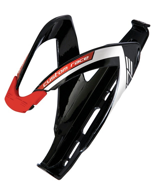 Porte-bidon Elite Custom Race Noir/Blanc/Rouge brillant