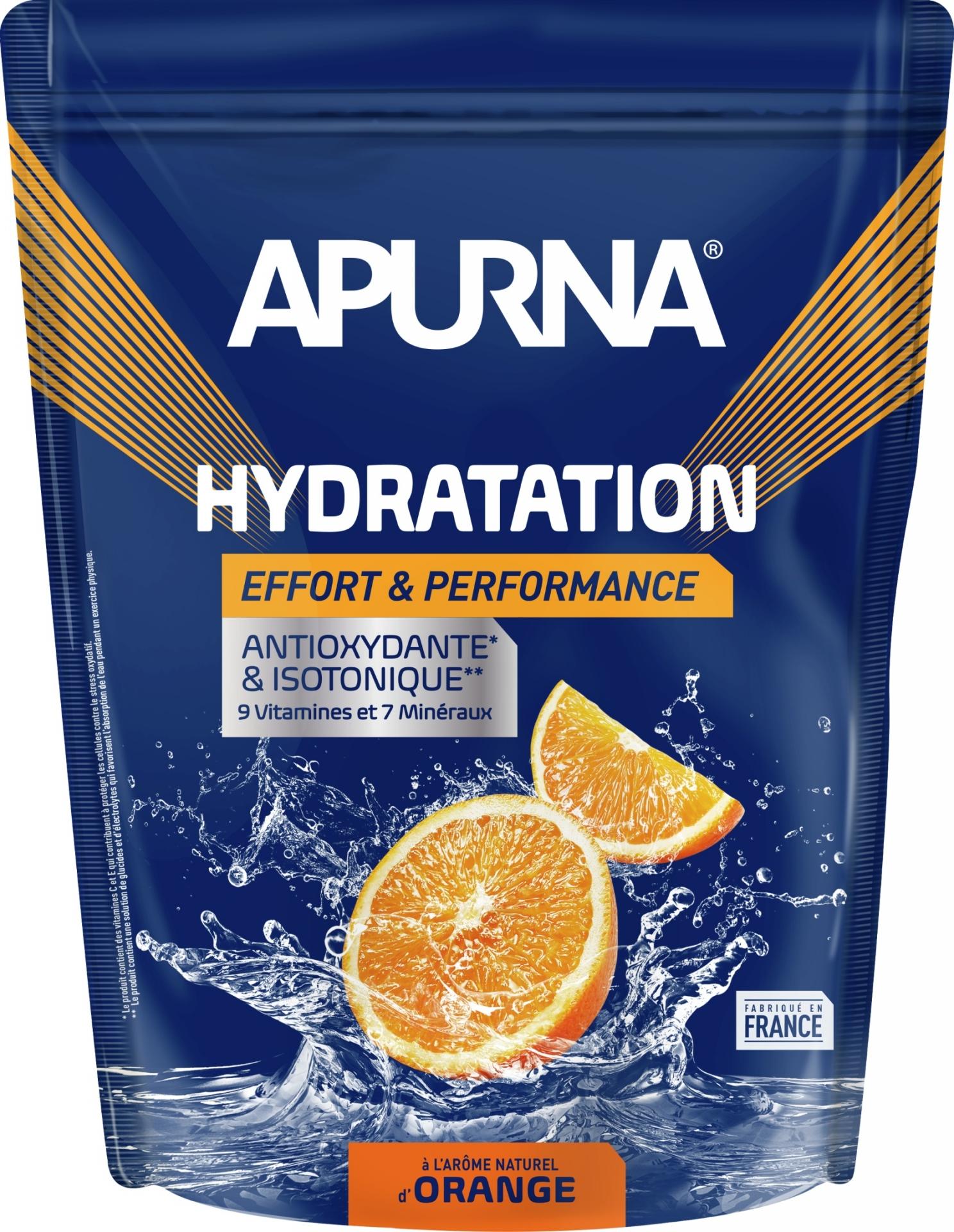 Boisson énergie Apurna Doypack Orange 1,5 kg