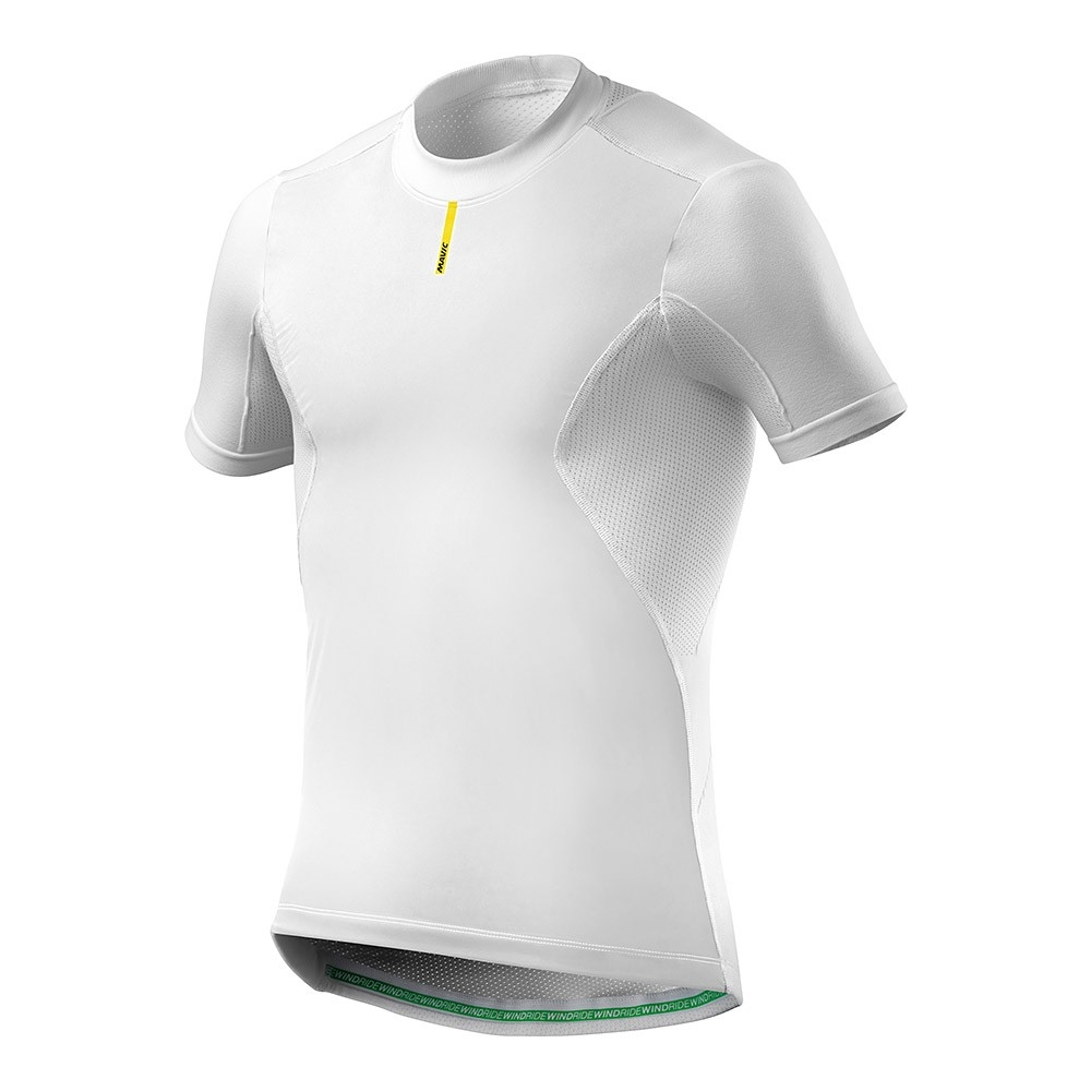 Maillot thermique Mavic Wind Ride manches courtes Blanc - XS/S