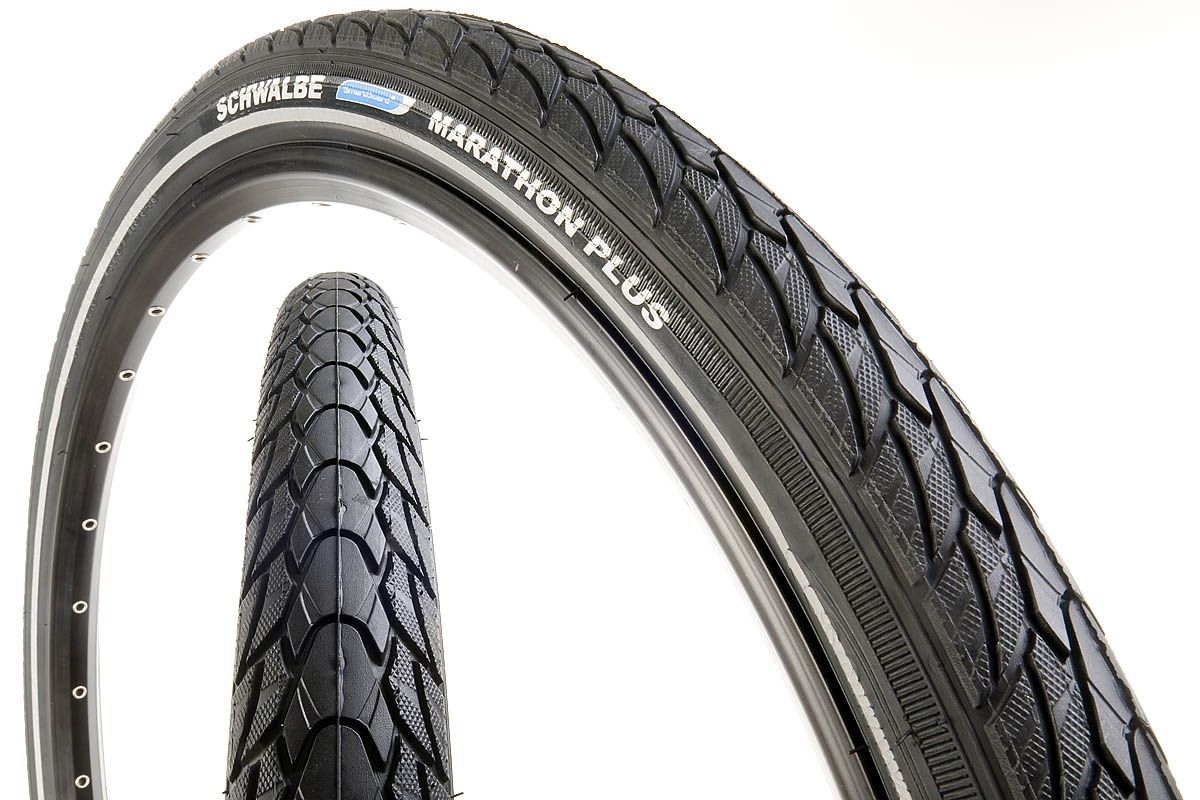 Pneu 16 x 1.35 Schwalbe Marathon Plus Smart Guard Noir/Reflex