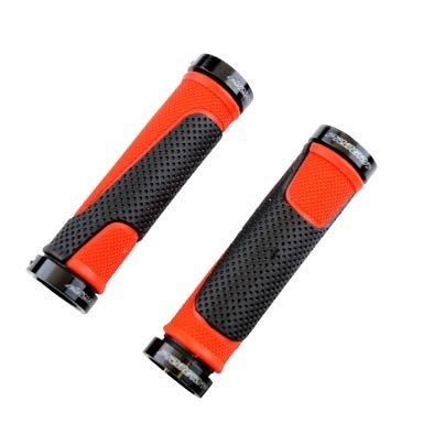Poignées ProGrip 997 Lock-on double avec anneaux 130 mm Noir/Rouge