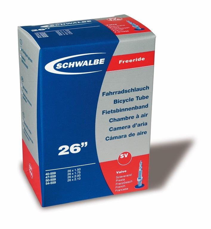 Chambre à air Schwalbe 26 x 2.10/3.00 Freeride SV13F Presta 40 mm