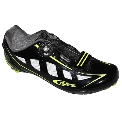 Chaussures route GES Speed Boa Noir/Jaune fluo - 39