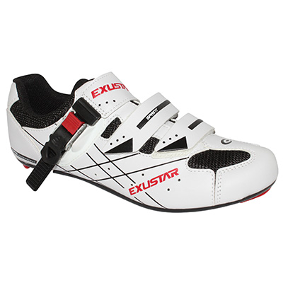 Chaussures route Exustar E-SR493B Microclip Blanc - 39