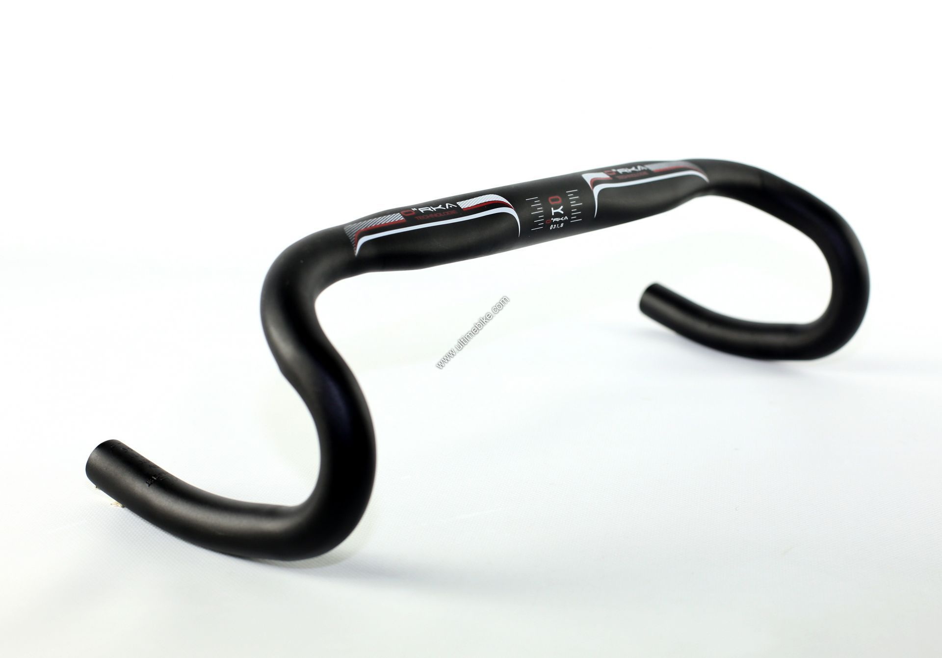 Cintre route Orka aluminium 31.8 mm 420 mm Noir